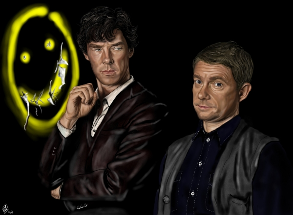 Benedict Cumberbatch, Martin Freeman by Bilou020285